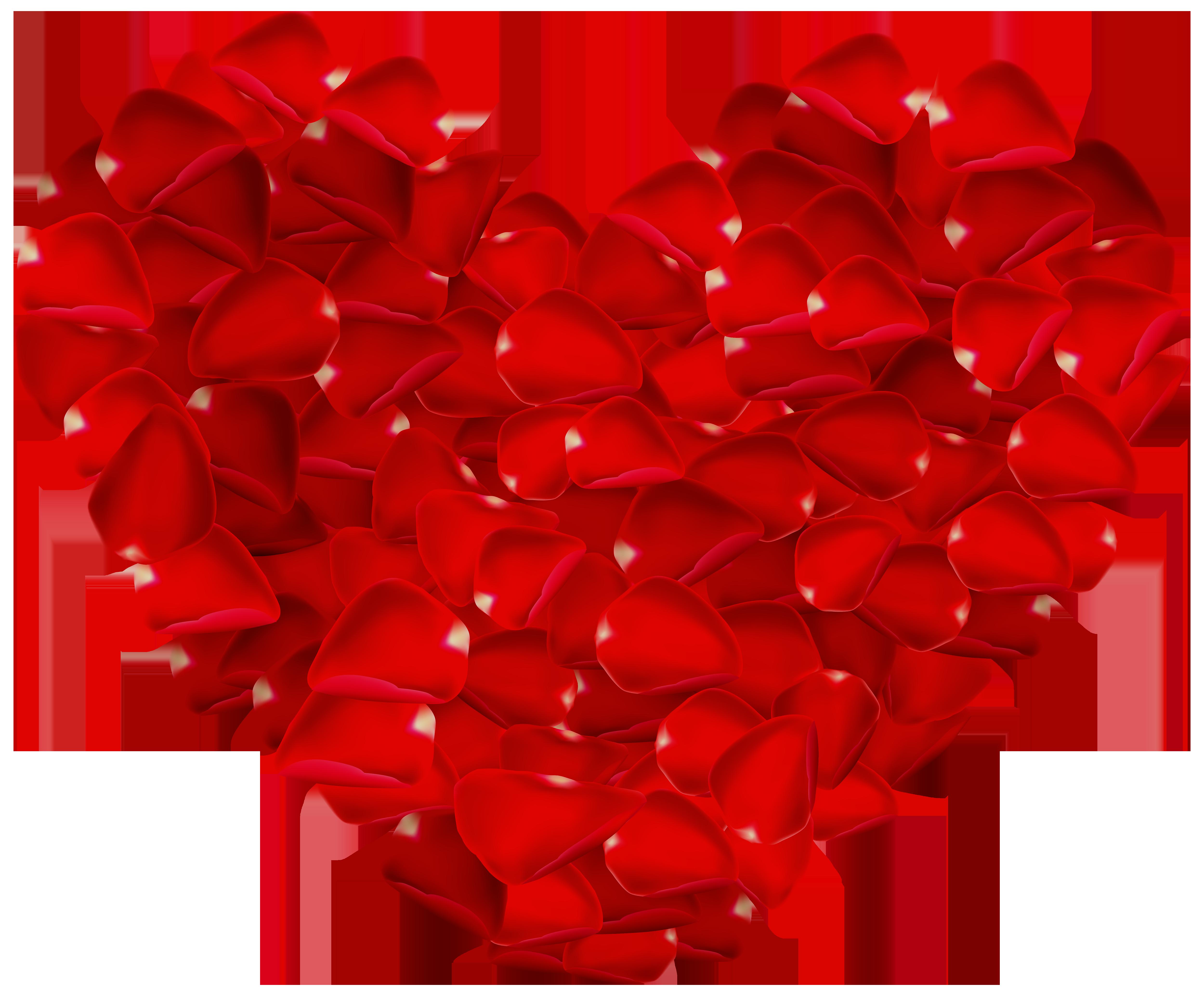 Hearts clipart rose. Petals heart png image