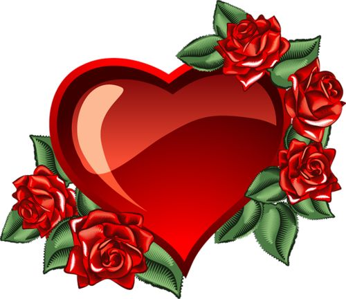 Heart and free download. Hearts clipart rose