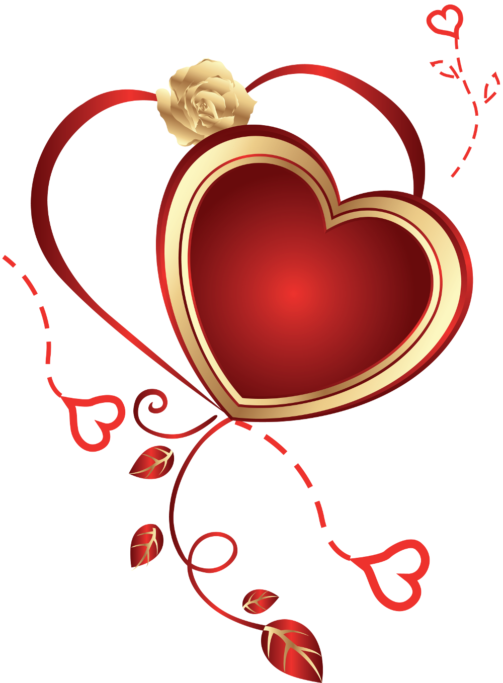 Heart with gallery yopriceville. Hearts clipart rose