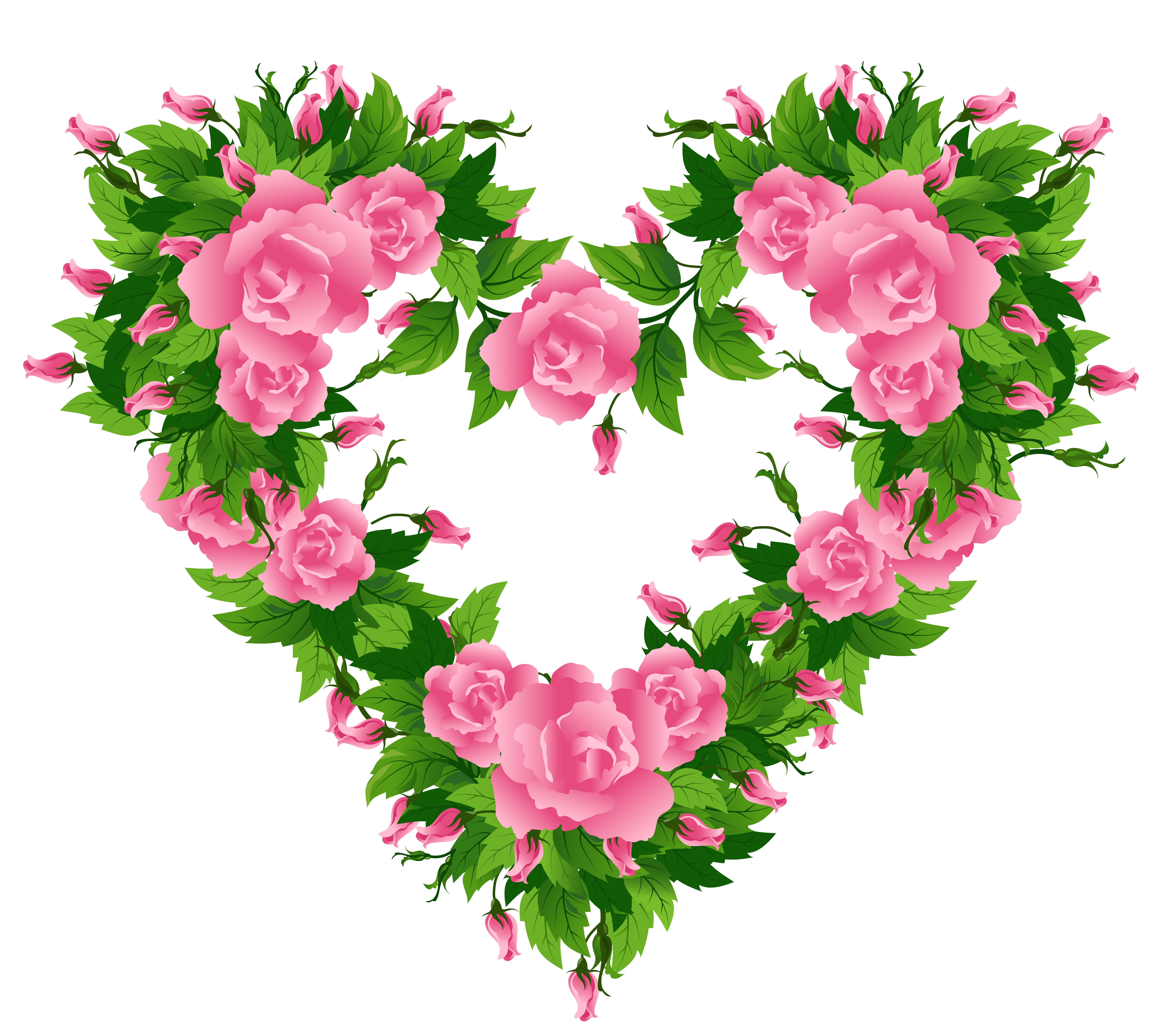 Pink heart decor png. Clipart roses snake