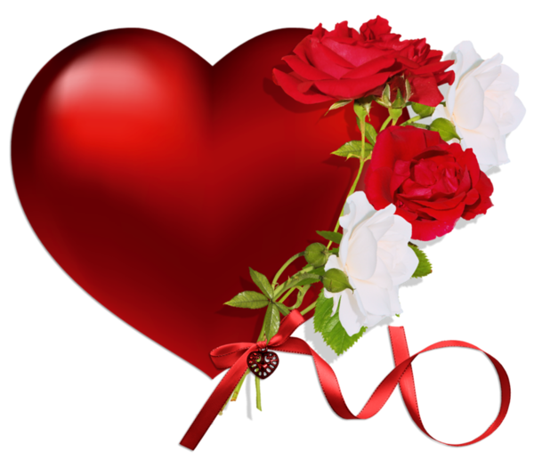With png . Clipart roses heart