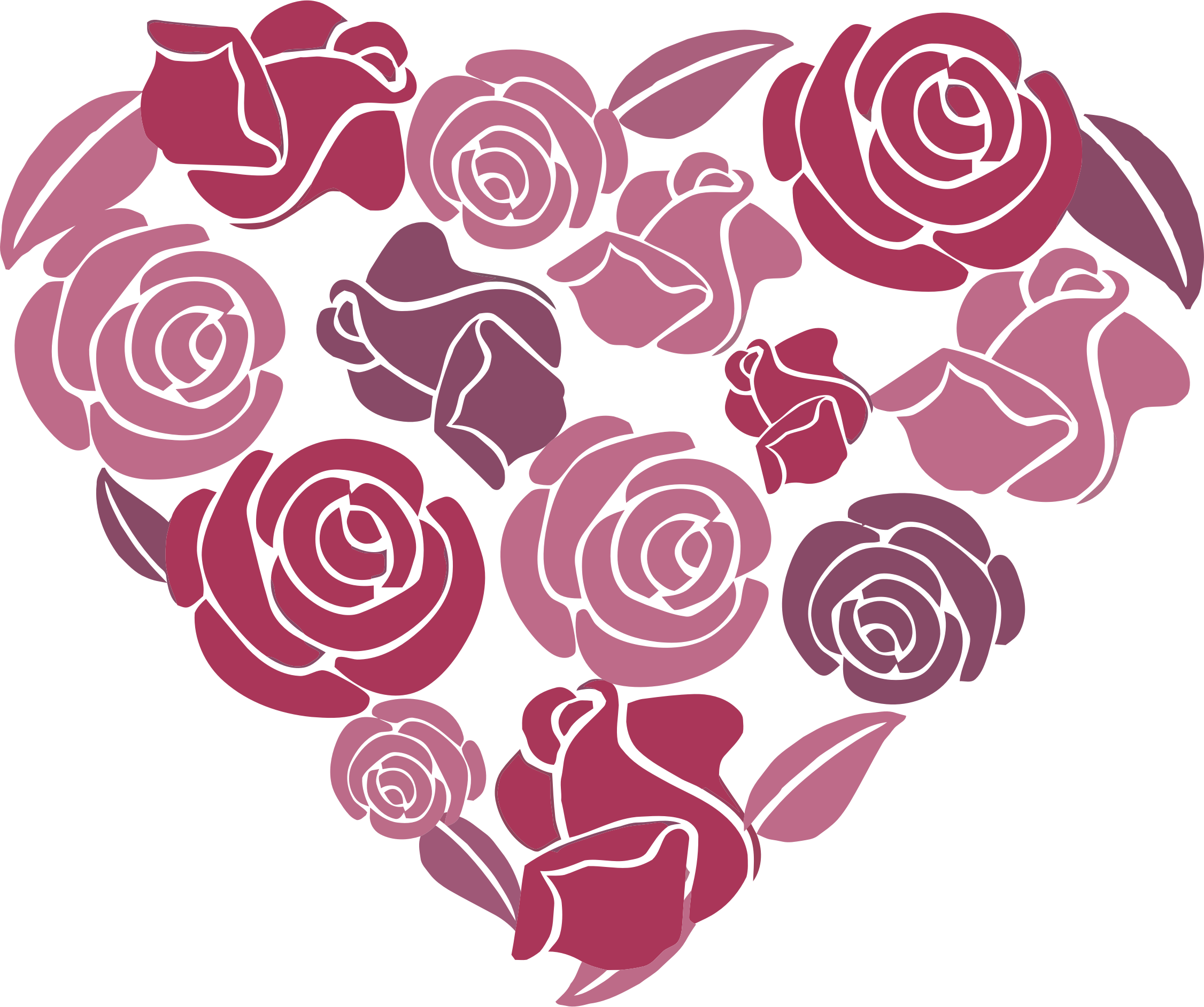 Clipart roses heart. Big image png