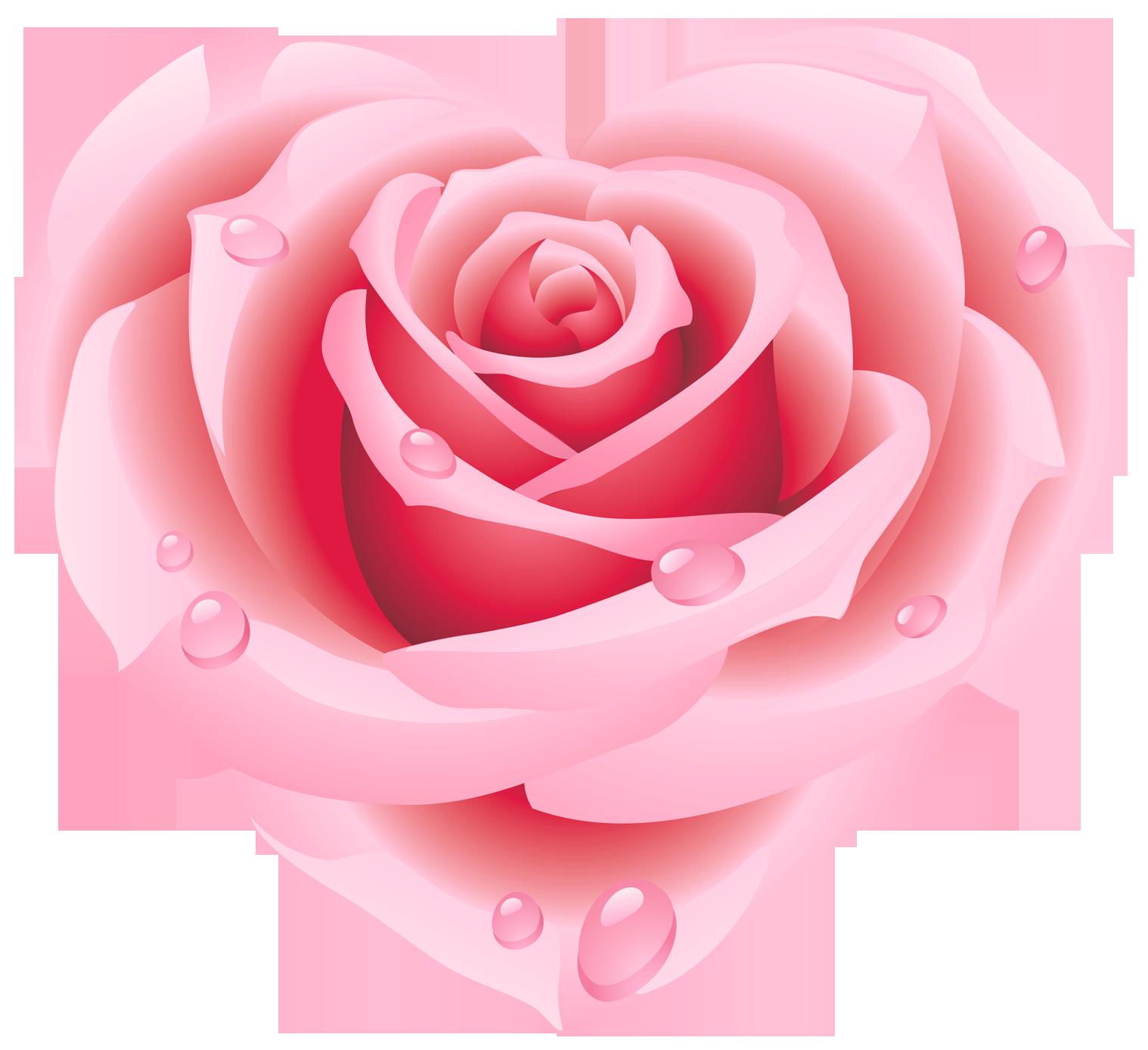 Rose heart . Hearts clipart garden