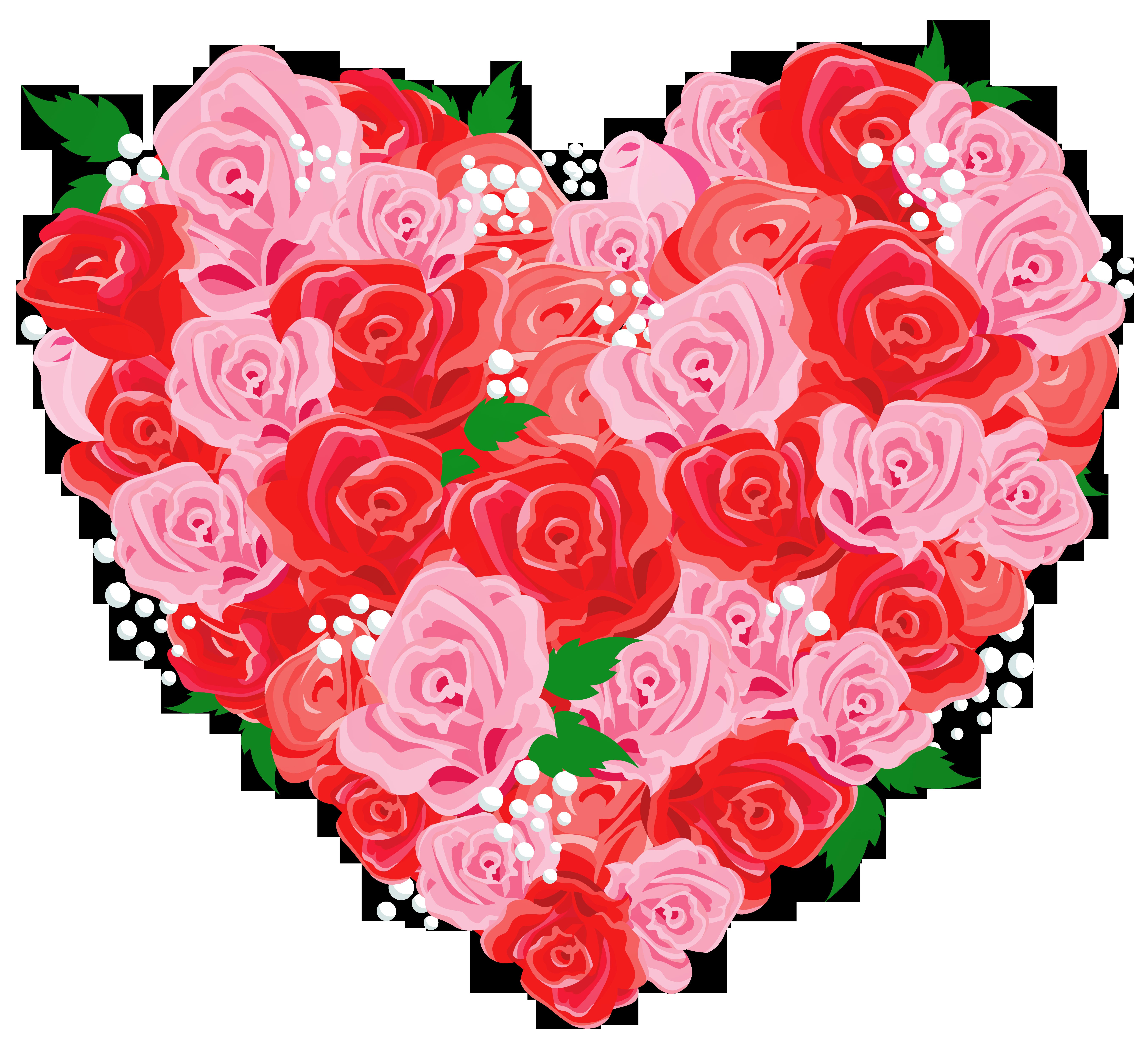 Deco rose heart png. Hearts clipart garden