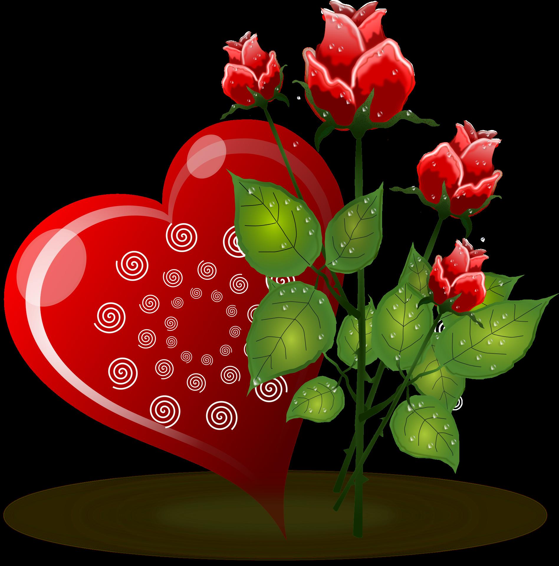 Heart clipart garden. Rose flower valentines day