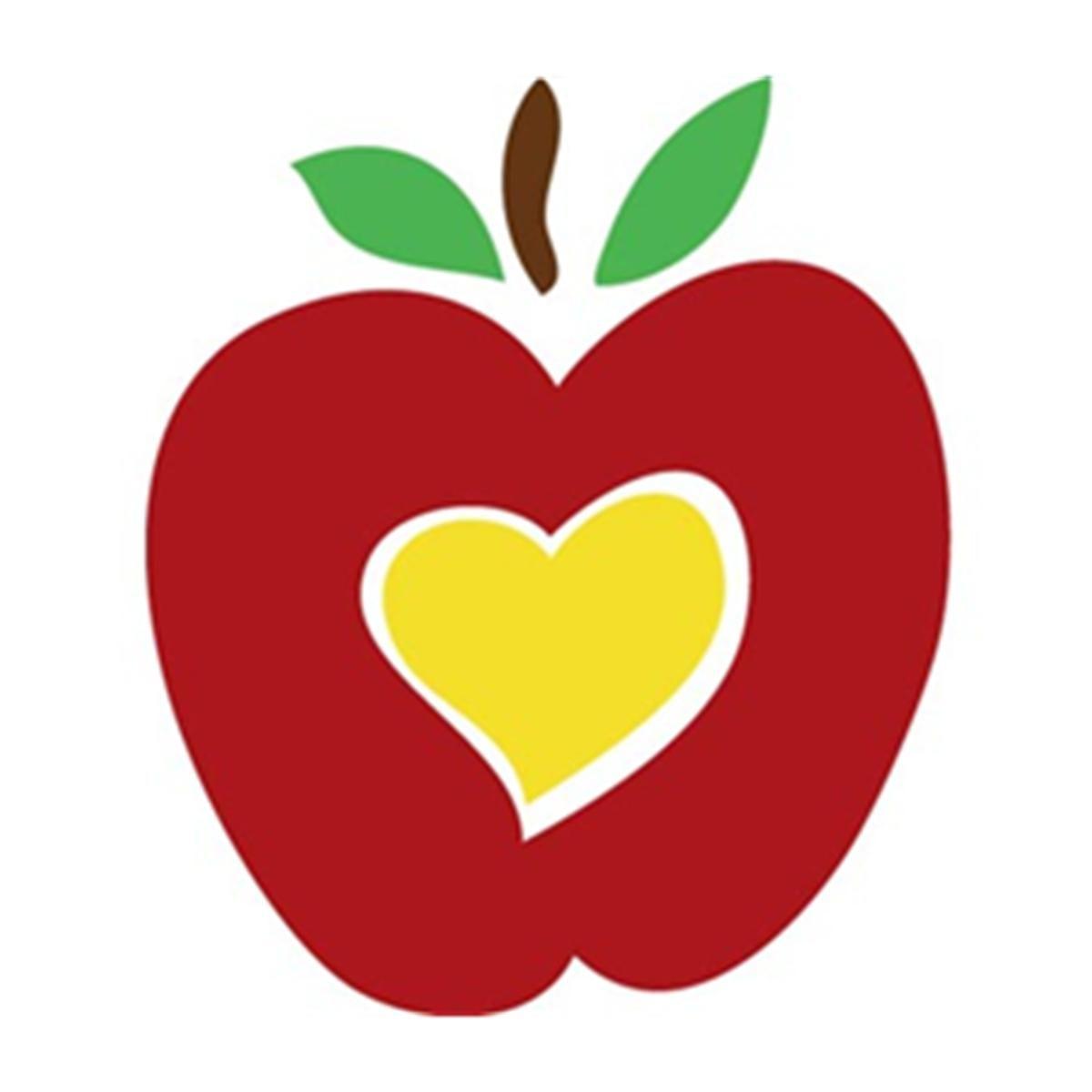 Best teacher appreciation clip. Clipart hearts school