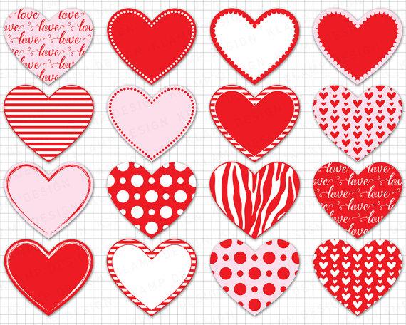 Scrapbook clipart love. Heart digital valentine