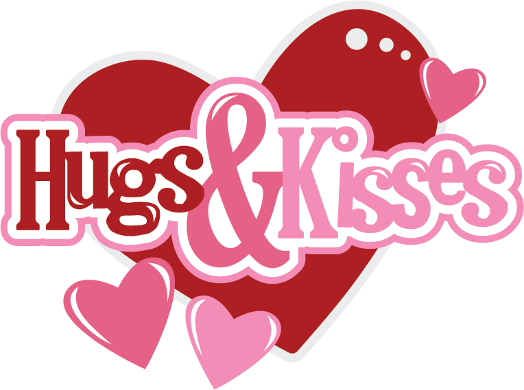 Kiss clipart large. Hugs kisses svg scrapbook