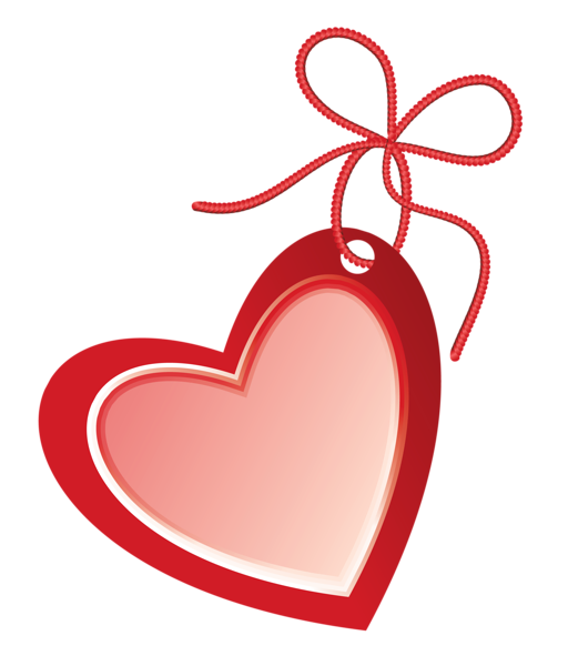 Valentine heart png picture. Label clipart red