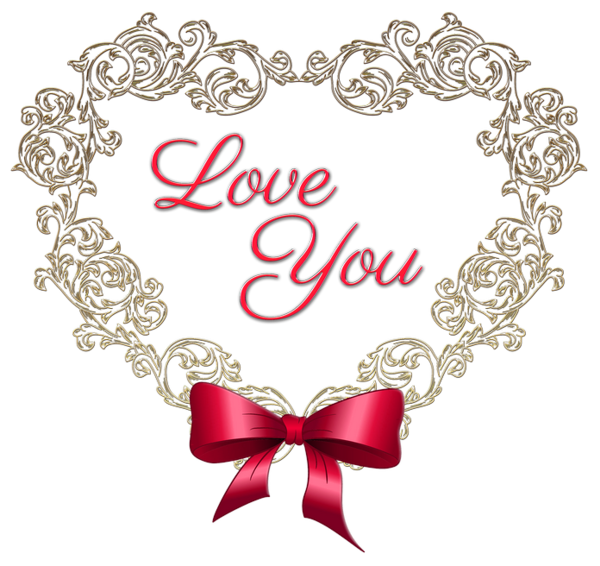 Clipart heart scrapbook. With red bow love
