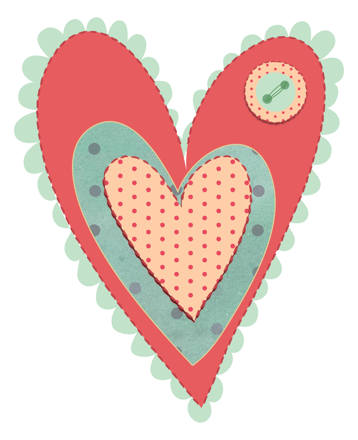 Free shabby chic png. Hearts clipart scrapbook