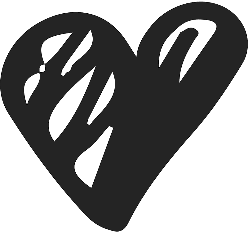 Hearts clipart scribble. Bold heart rubber stamp