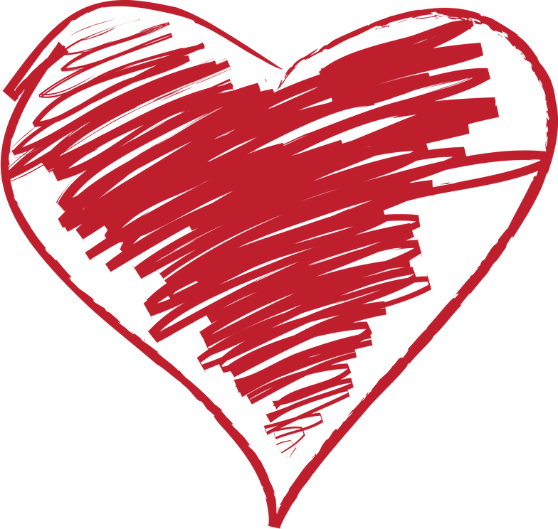 Featured products. Clipart heart scribble