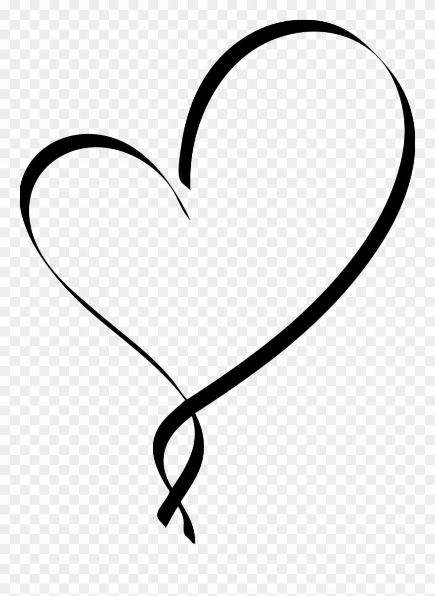 Heart clipart script. Fancy black png download
