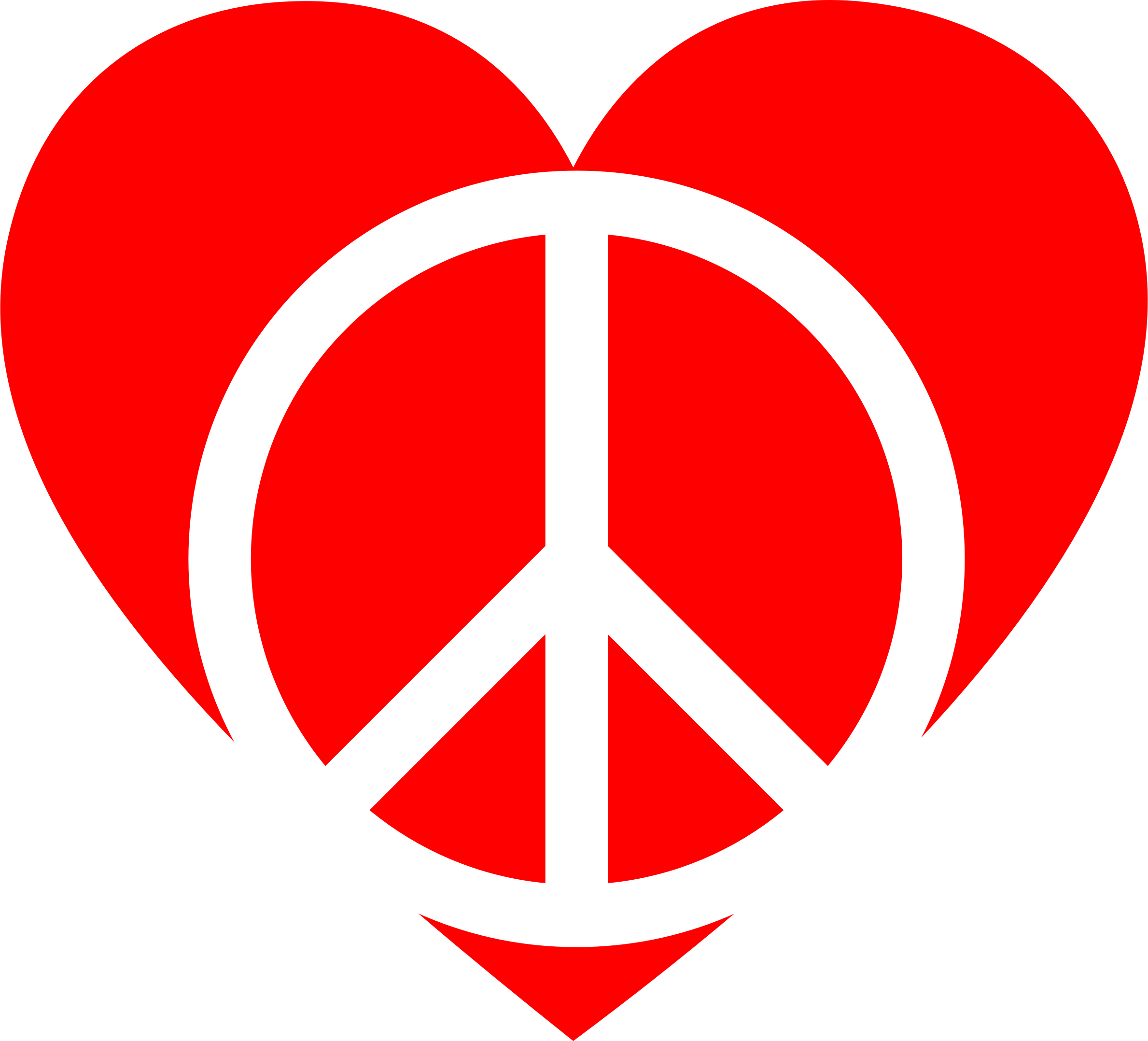 Peace clipart peace sign. Red heart big image
