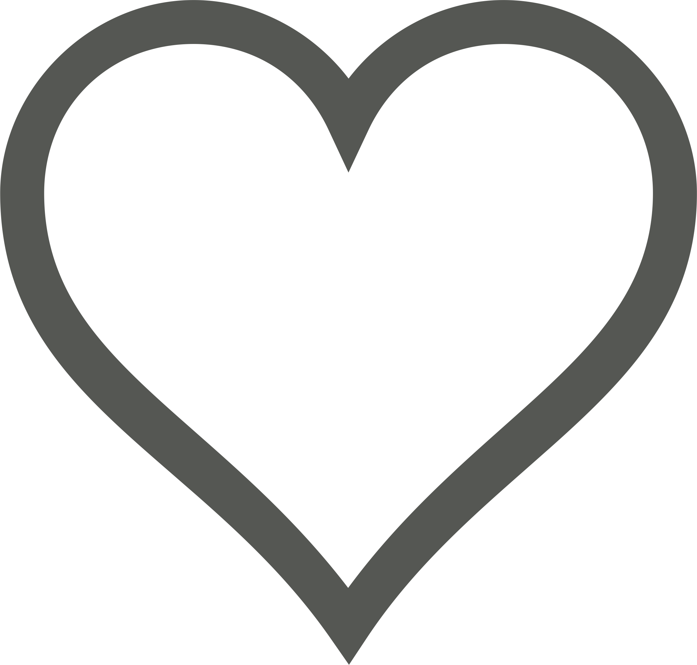 Icon deselected big image. Clipart heart sign