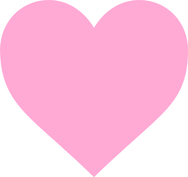 Pink clip art at. Clipart heart simple