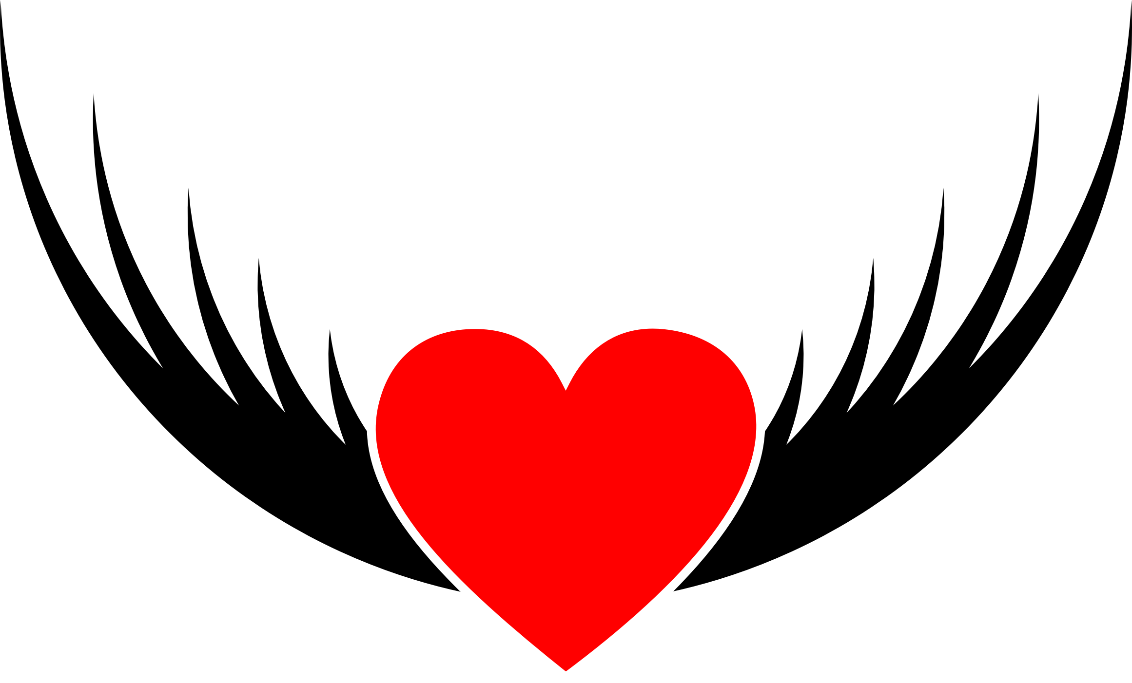 Flying big image png. Clipart heart simple