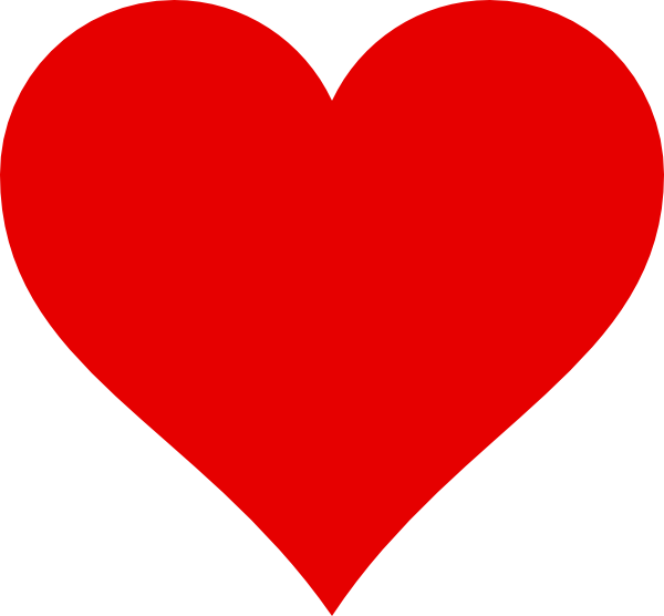 Red clip art at. Clipart heart simple
