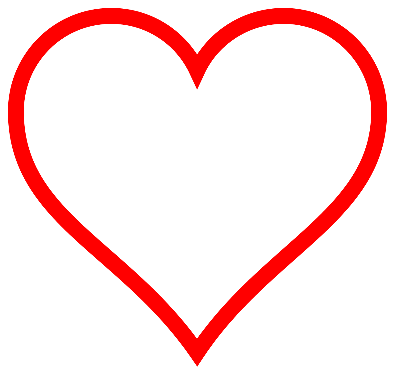 Red transparent png stickpng. Clipart heart simple