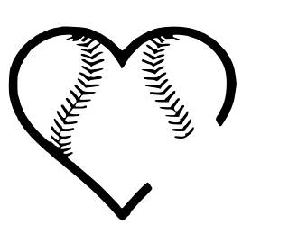 Etsy . Softball clipart heart