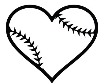 Hearts clipart softball. Heart black and white