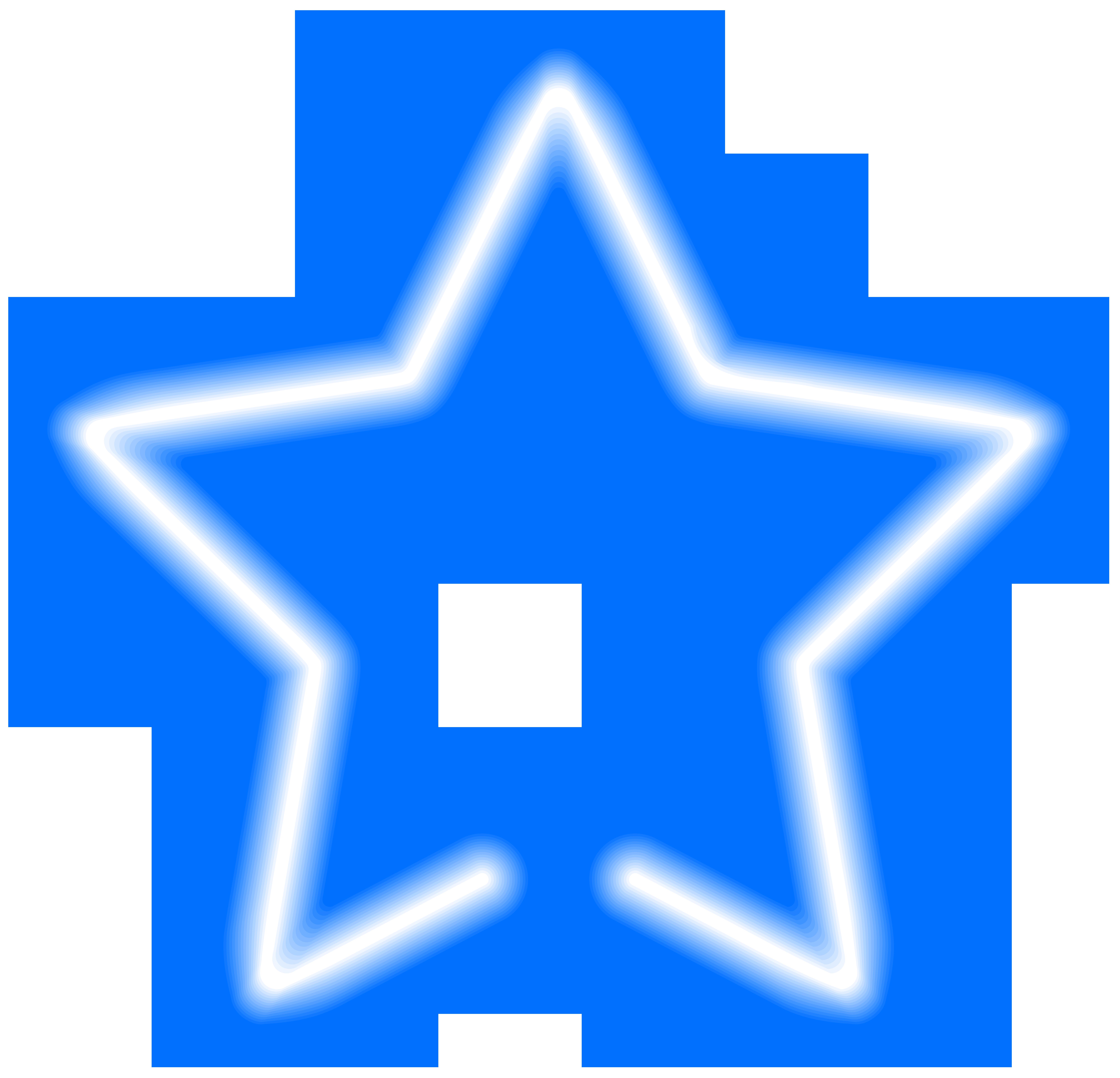 Neon border png. Star blue clip art