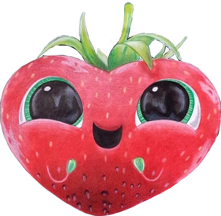 Strawberries clipart eye. Freetoedit barry strawberry cloudywithachanceofmeatball