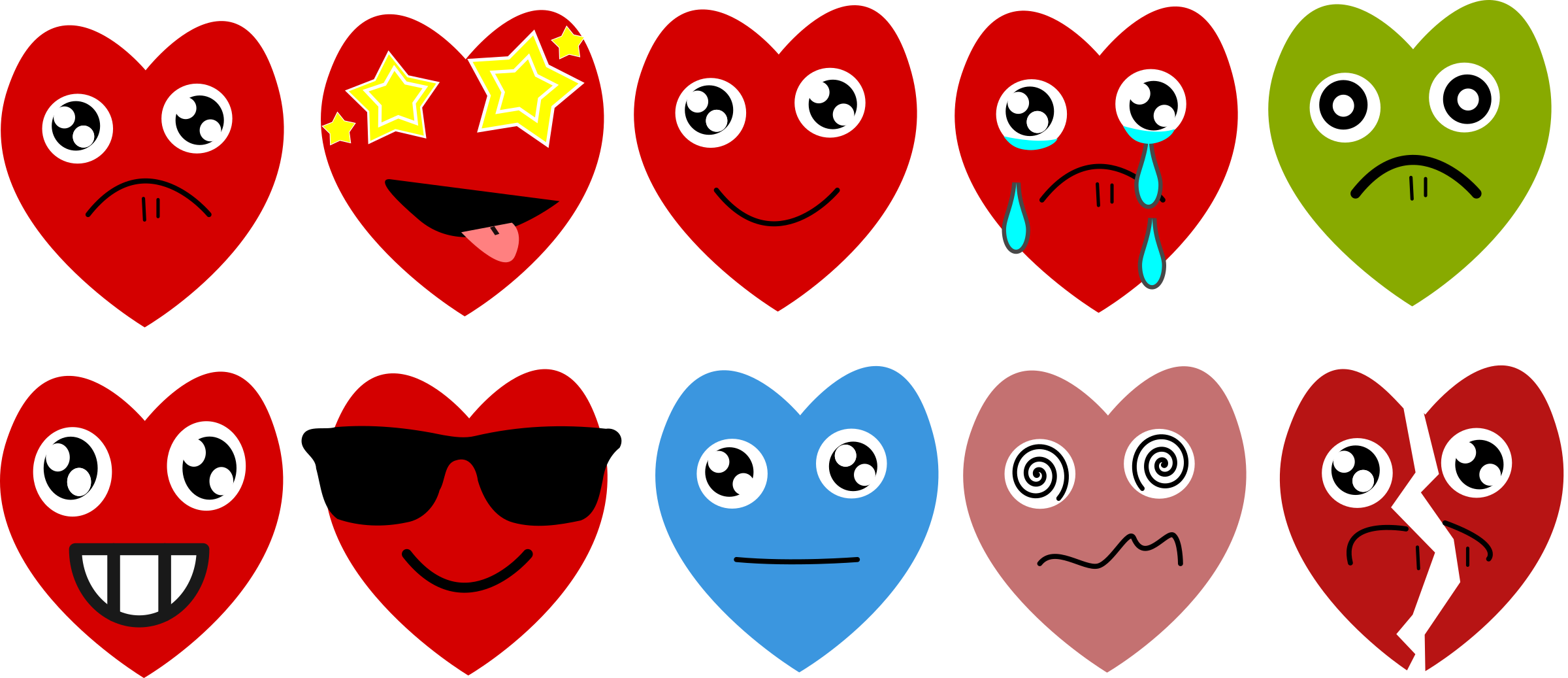 Emoji big image png. Clipart sunglasses red heart