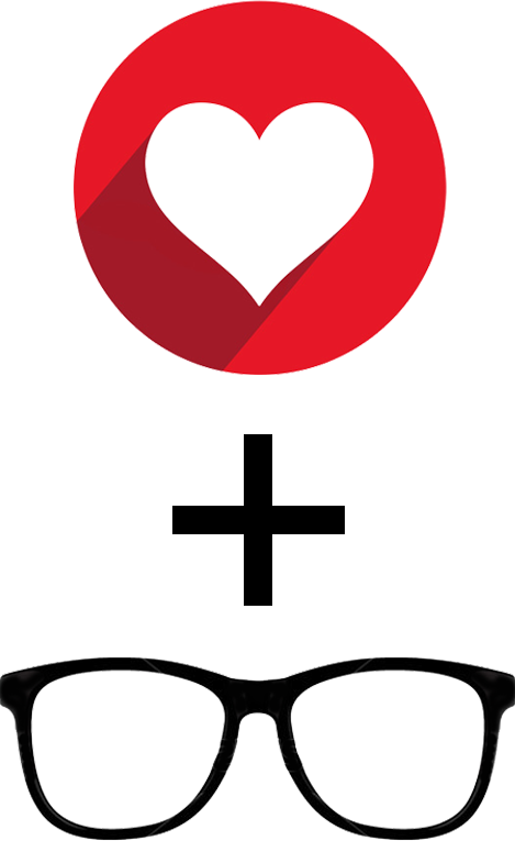 Eyenamite com contact lens. Clipart heart sunglass