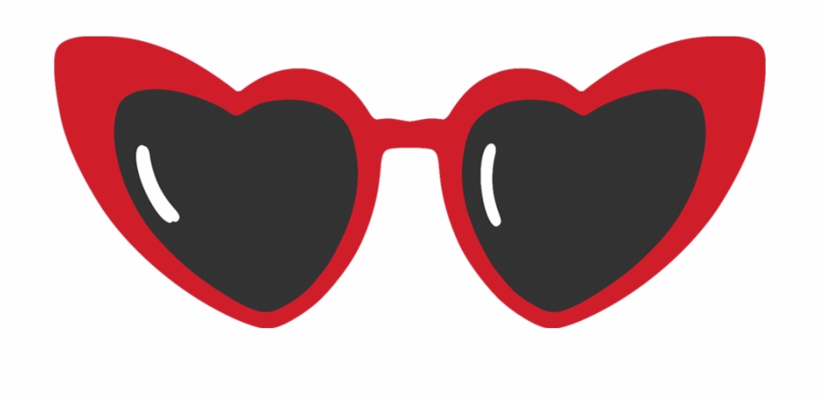 Clipart sunglasses red heart. Shaped banner transparent library