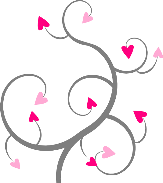 Hearts clip art at. Clipart heart swirl