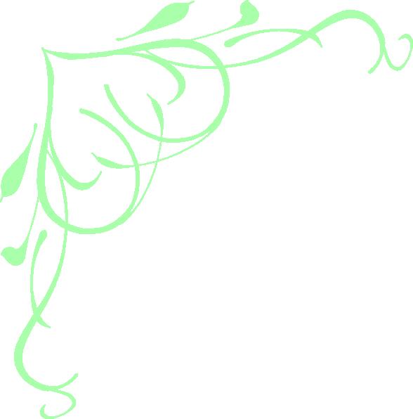 Heart clipart swirl. Pastel green clip art