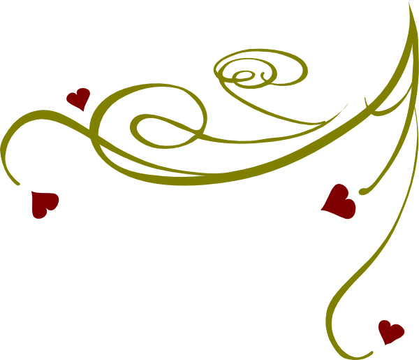 Number clipart decorative. Swirl heart