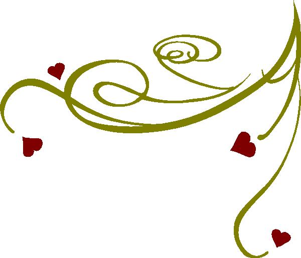 . Heart clipart swirl