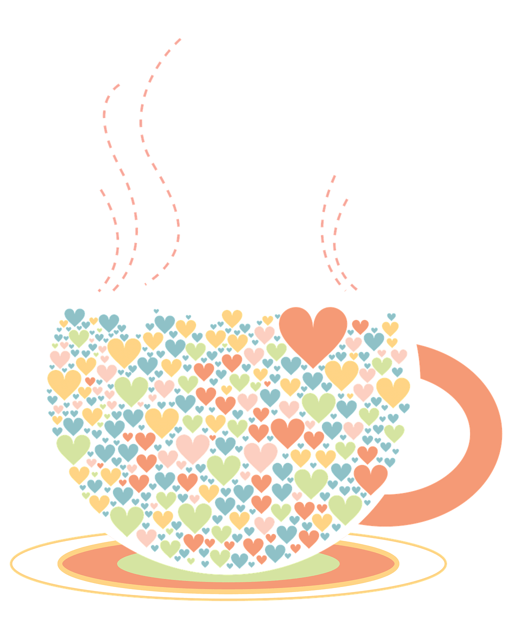 Drawing transparent png stickpng. Hearts clipart tea cup