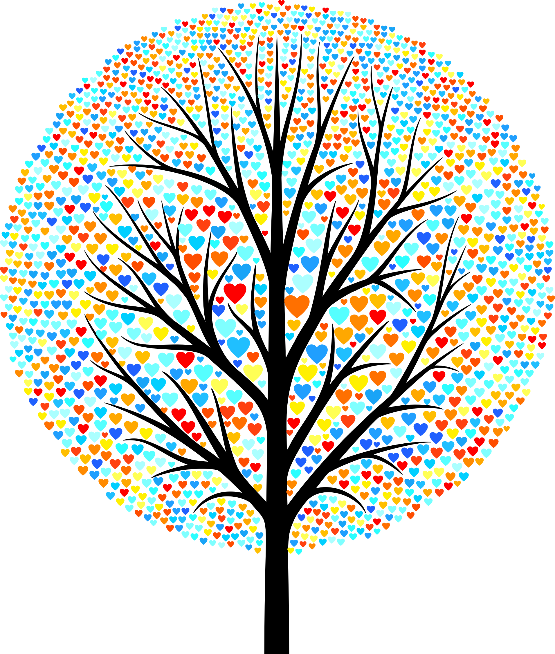 Tree big image png. Clipart hearts plant