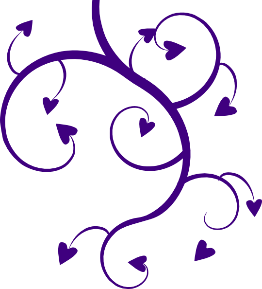 Purple clip art at. Heart clipart tree
