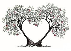 Free hearts cliparts download. Clipart tree heart