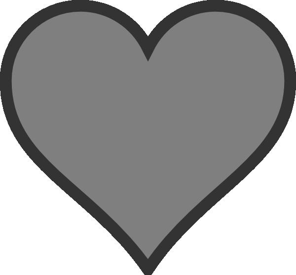 Hearts clipart science. Gray heart clip art
