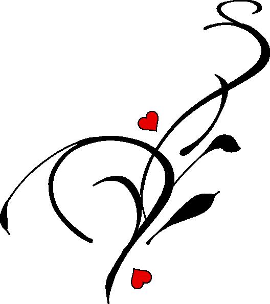 Heart clip art at. Hearts clipart vine