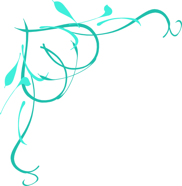 Teal on clip art. Clipart heart vine