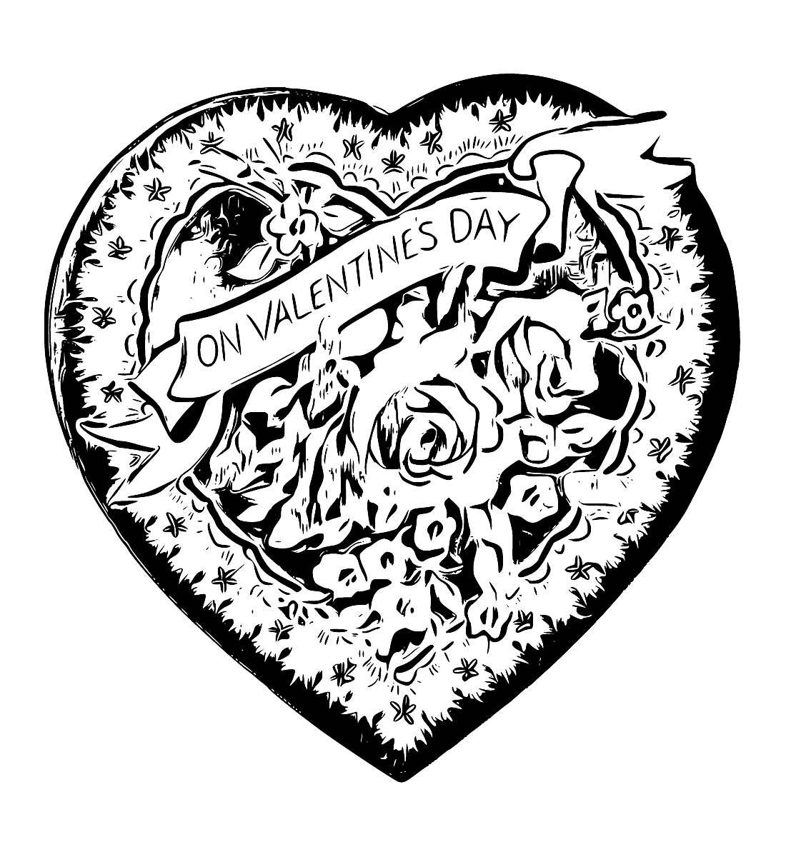 Retro clipart heart. Vintage drawing at getdrawings
