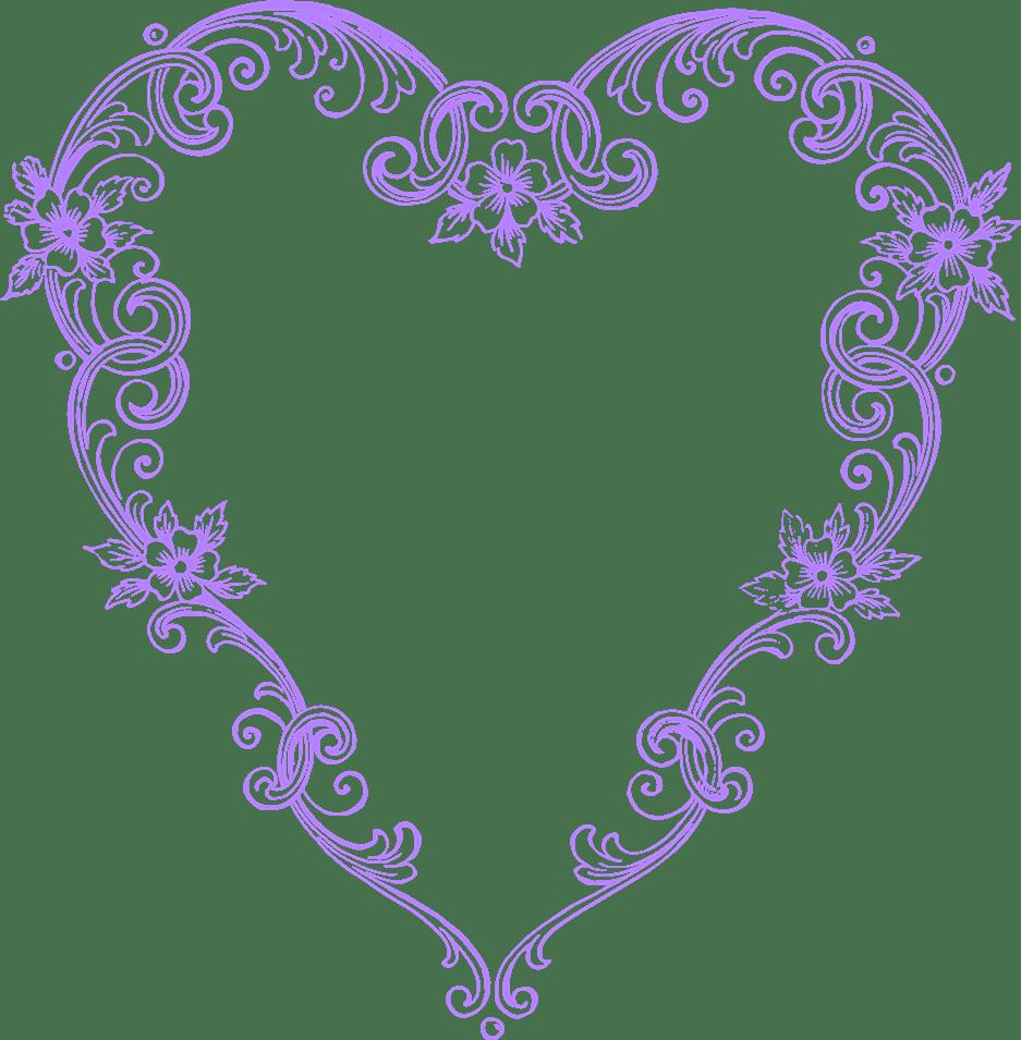Free images fancy purple. Hearts clipart vintage