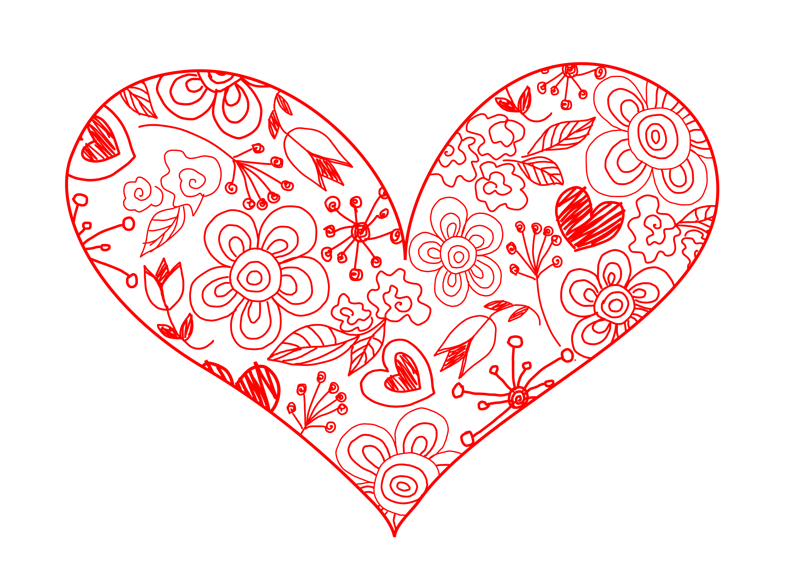 collection of vintage. Hearts clipart garden