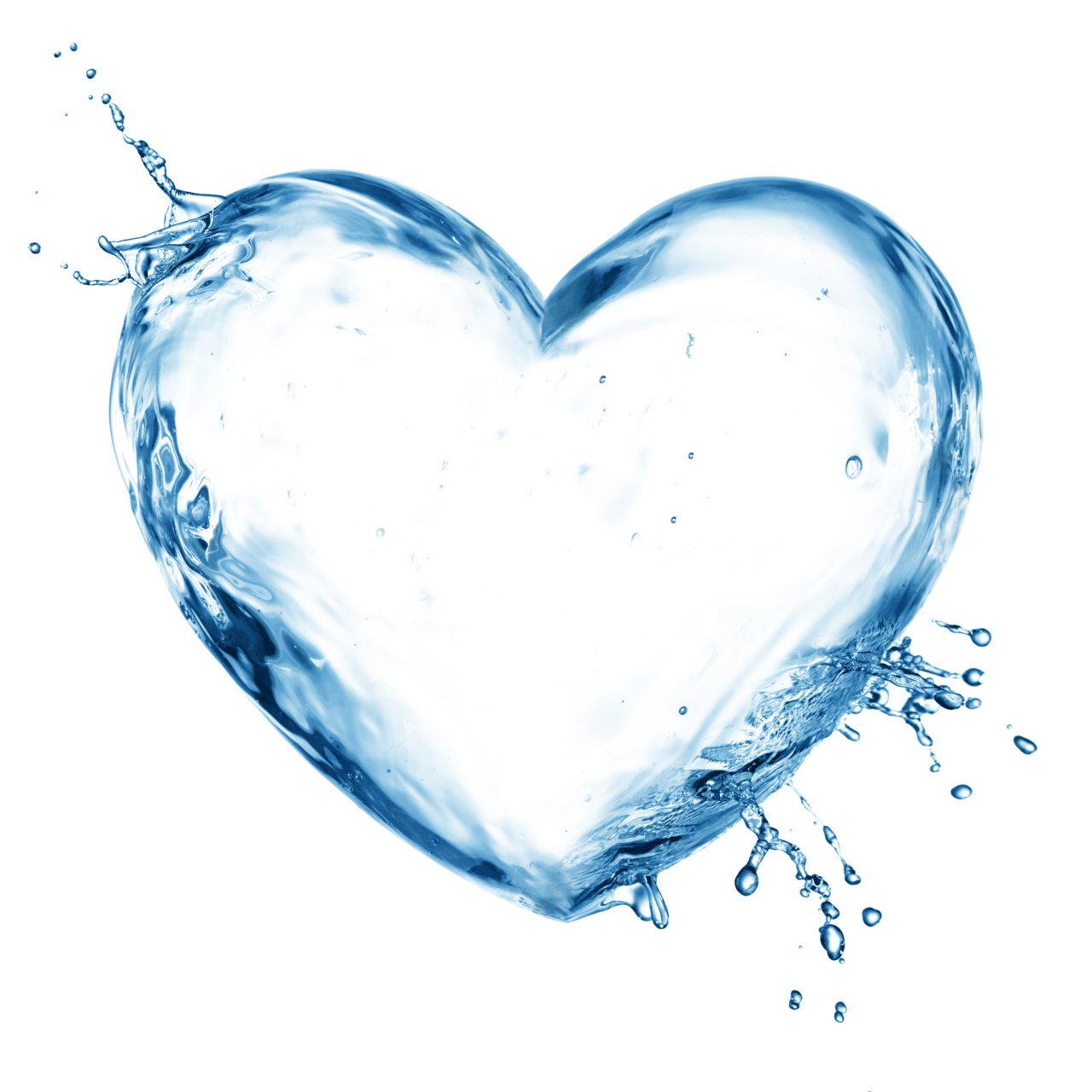 Agua png by eross. Heart clipart water
