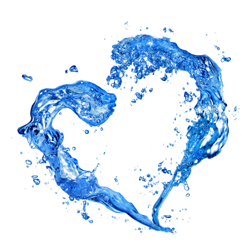 Heart clipart water. Transparent png stickpng