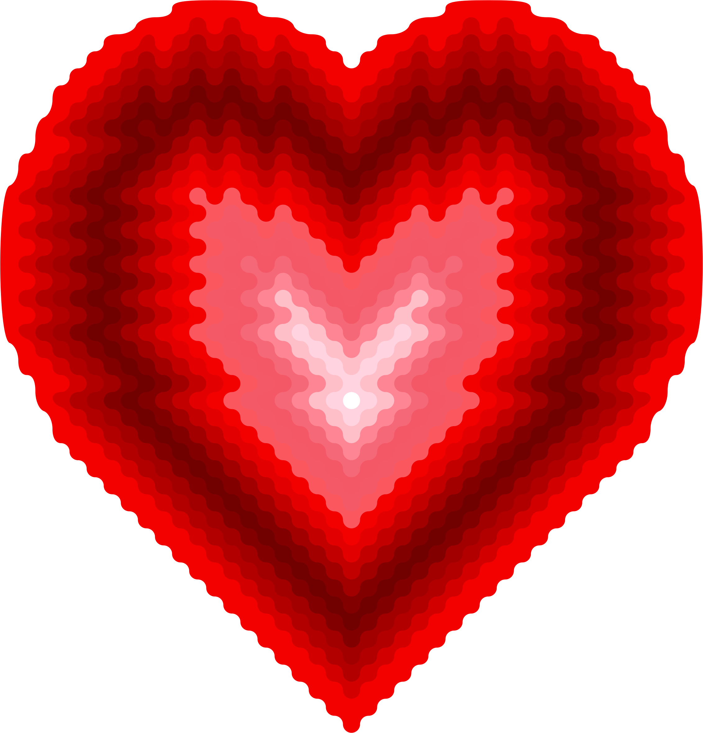 Wave dot big image. Waves clipart heart