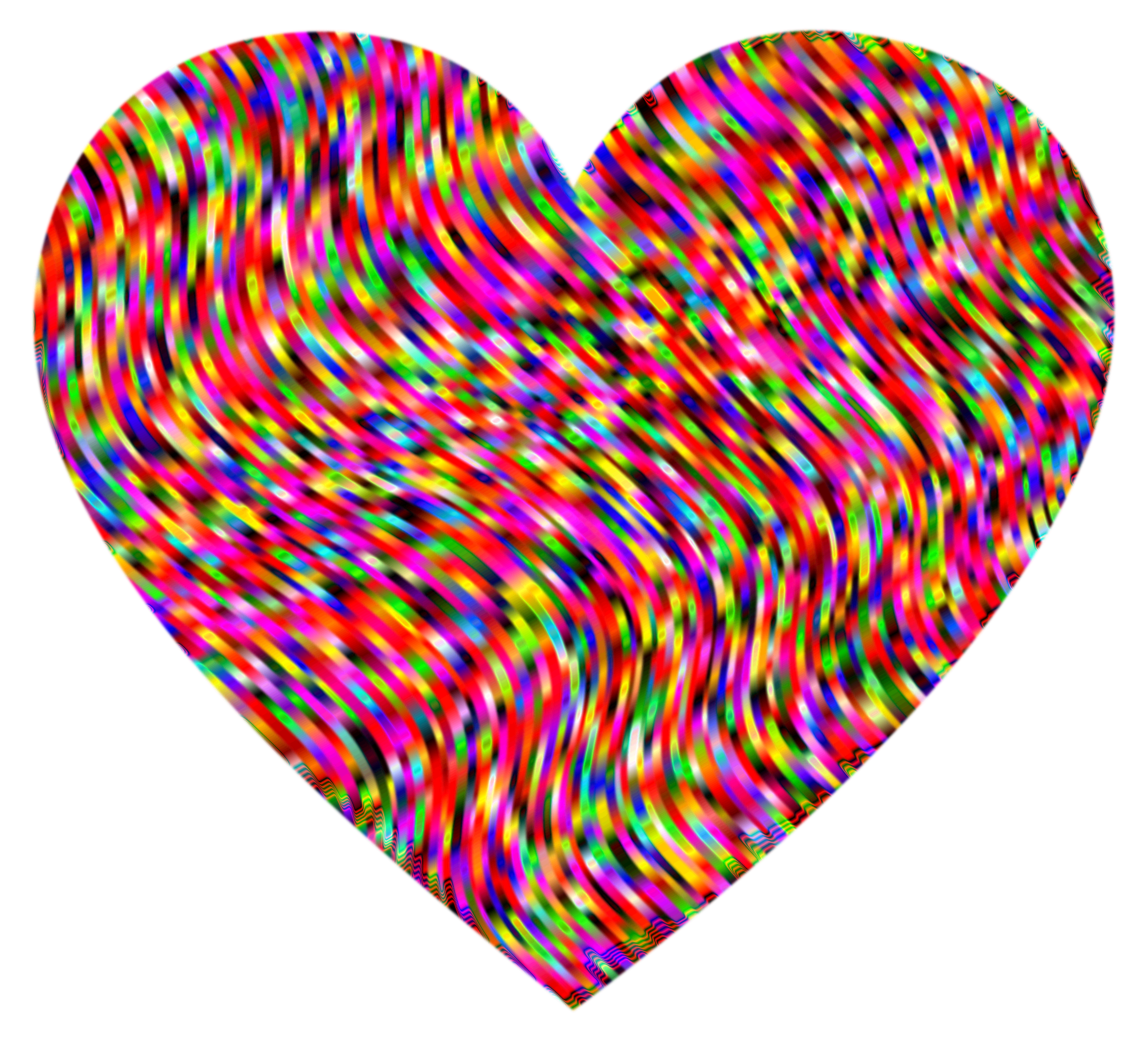 Waves clipart heart. Psychedelic big image png