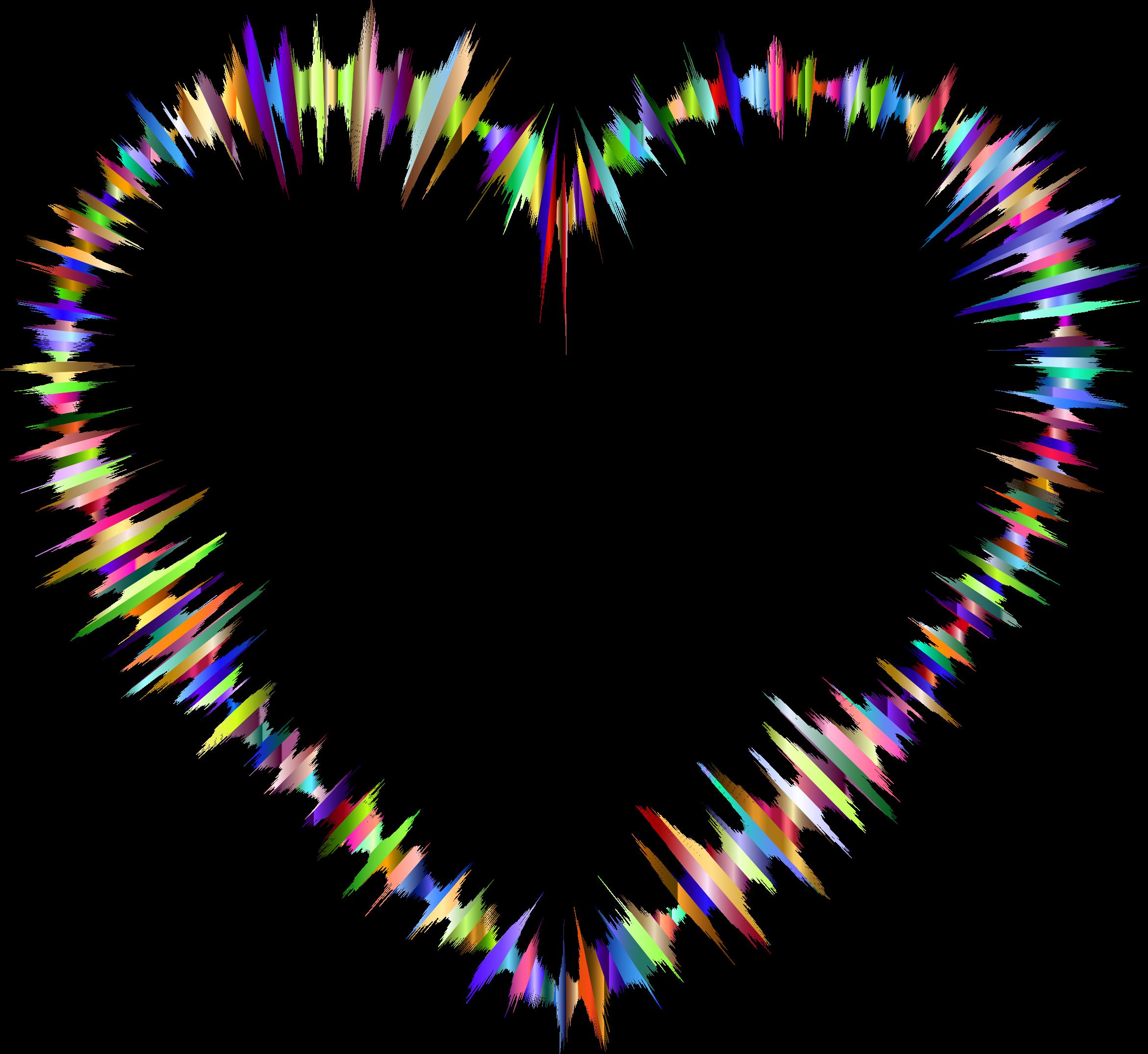 Waves clipart heart. Prismatic sound big image